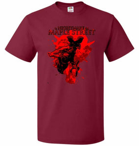 A Nightmare On Maple Street Unisex T-Shirt - Cardinal / S - T-Shirt