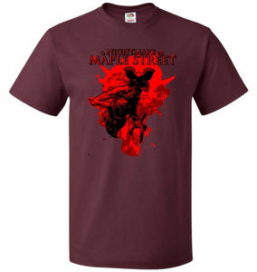 A Nightmare On Maple Street Unisex T-Shirt - Maroon / S - T-Shirt