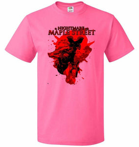 A Nightmare On Maple Street Unisex T-Shirt - Neon Pink / S - T-Shirt