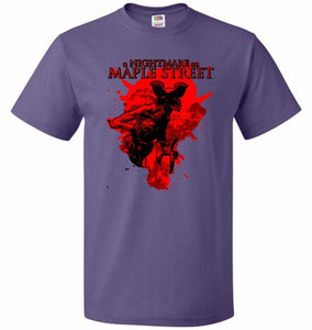 A Nightmare On Maple Street Unisex T-Shirt - Purple / S - T-Shirt