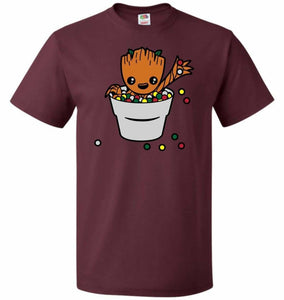 A Pot Full Of Candies Unisex T-Shirt - Maroon / S - T-Shirt