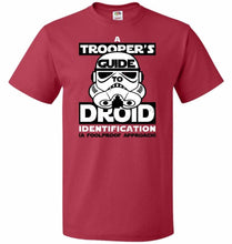 Load image into Gallery viewer, A Troopers GuideTo Droid Identification Unisex T-Shirt - True Red / S - T-Shirt