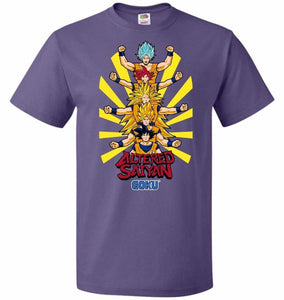 Altered Saiyan Unisex T-Shirt - Purple / S - T-Shirt