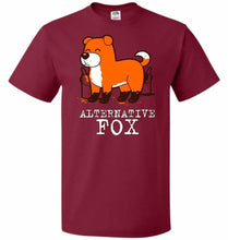 Load image into Gallery viewer, Alternative Fox Unisex T-Shirt - Cardinal / S - T-Shirt