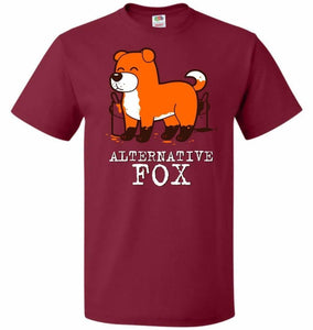Alternative Fox Unisex T-Shirt - Cardinal / S - T-Shirt