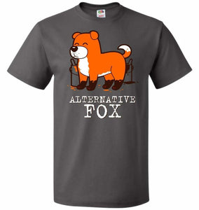 Alternative Fox Unisex T-Shirt - Charcoal Grey / S - T-Shirt
