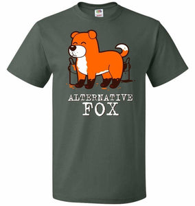 Alternative Fox Unisex T-Shirt - Forest Green / S - T-Shirt