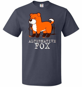 Alternative Fox Unisex T-Shirt - J Navy / S - T-Shirt