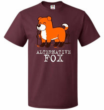 Load image into Gallery viewer, Alternative Fox Unisex T-Shirt - Maroon / S - T-Shirt