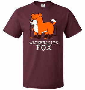 Alternative Fox Unisex T-Shirt - Maroon / S - T-Shirt