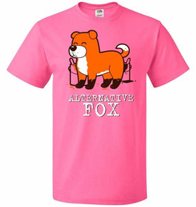Alternative Fox Unisex T-Shirt - Neon Pink / S - T-Shirt