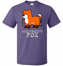 Load image into Gallery viewer, Alternative Fox Unisex T-Shirt - Purple / S - T-Shirt