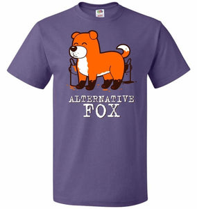 Alternative Fox Unisex T-Shirt - Purple / S - T-Shirt