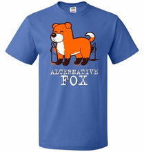 Load image into Gallery viewer, Alternative Fox Unisex T-Shirt - Royal / S - T-Shirt