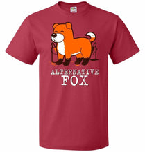 Load image into Gallery viewer, Alternative Fox Unisex T-Shirt - True Red / S - T-Shirt