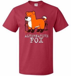 Alternative Fox Unisex T-Shirt - True Red / S - T-Shirt