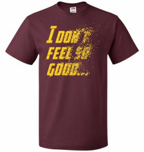 Load image into Gallery viewer, Bad Feeling Unisex T-Shirt - Maroon / S - T-Shirt