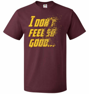 Bad Feeling Unisex T-Shirt - Maroon / S - T-Shirt