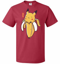 Load image into Gallery viewer, Bananachu Unisex T-Shirt - True Red / S - T-Shirt