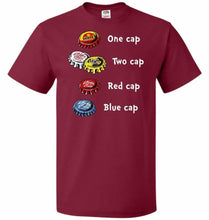 Load image into Gallery viewer, Bottle Caps Fever Unisex T-Shirt - Cardinal / S - T-Shirt