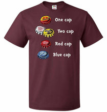 Load image into Gallery viewer, Bottle Caps Fever Unisex T-Shirt - Maroon / S - T-Shirt