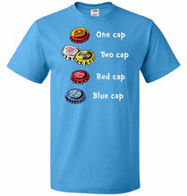 Load image into Gallery viewer, Bottle Caps Fever Unisex T-Shirt - Pacific Blue / S - T-Shirt
