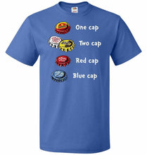 Load image into Gallery viewer, Bottle Caps Fever Unisex T-Shirt - Royal / S - T-Shirt