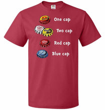 Load image into Gallery viewer, Bottle Caps Fever Unisex T-Shirt - True Red / S - T-Shirt
