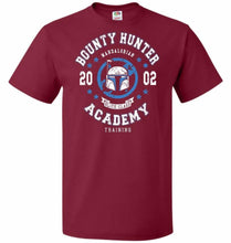 Load image into Gallery viewer, Bounty Hunter Academy 02 Unisex T-Shirt - Cardinal / S - T-Shirt