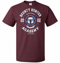 Load image into Gallery viewer, Bounty Hunter Academy 02 Unisex T-Shirt - Maroon / S - T-Shirt