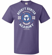 Load image into Gallery viewer, Bounty Hunter Academy 02 Unisex T-Shirt - Purple / S - T-Shirt