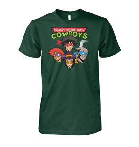 Bounty Hunting Ninja Cowboys Unisex T-Shirt - Forest Green / S / Unisex Cotton Tee - T-Shirt