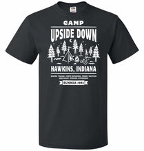 Load image into Gallery viewer, Camp Upside Down Unisex T-Shirt - Black / S - T-Shirt