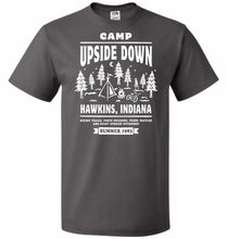 Load image into Gallery viewer, Camp Upside Down Unisex T-Shirt - Charcoal Grey / S - T-Shirt