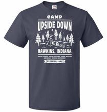 Load image into Gallery viewer, Camp Upside Down Unisex T-Shirt - J Navy / S - T-Shirt