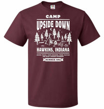 Load image into Gallery viewer, Camp Upside Down Unisex T-Shirt - Maroon / S - T-Shirt