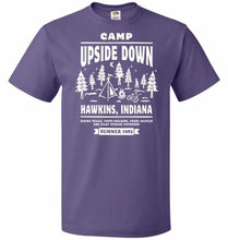 Load image into Gallery viewer, Camp Upside Down Unisex T-Shirt - Purple / S - T-Shirt