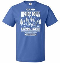 Load image into Gallery viewer, Camp Upside Down Unisex T-Shirt - Royal / S - T-Shirt