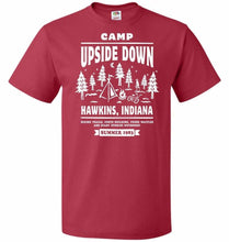 Load image into Gallery viewer, Camp Upside Down Unisex T-Shirt - True Red / S - T-Shirt