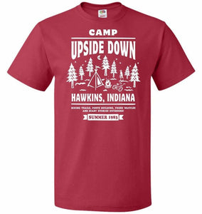 Camp Upside Down Unisex T-Shirt - True Red / S - T-Shirt