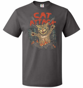 Cat Attack Unisex T-Shirt - Charcoal Grey / S - T-Shirt