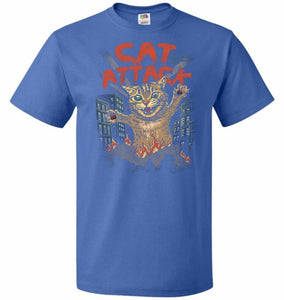 Cat Attack Unisex T-Shirt - Royal / S - T-Shirt