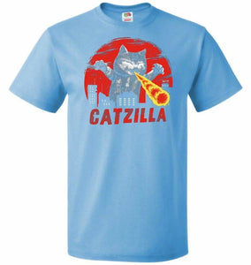 Catzilla Unisex T-Shirt - Aquatic Blue / S - T-Shirt