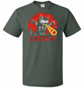 Catzilla Unisex T-Shirt - Forest Green / S - T-Shirt