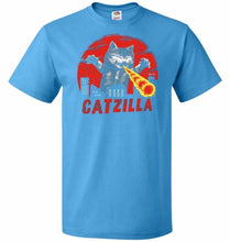 Load image into Gallery viewer, Catzilla Unisex T-Shirt - Pacific Blue / S - T-Shirt