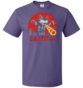 Catzilla Unisex T-Shirt - Purple / S - T-Shirt