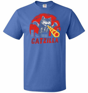 Catzilla Unisex T-Shirt - Royal / S - T-Shirt
