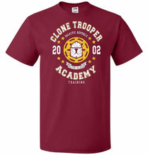 Load image into Gallery viewer, Clone Trooper Academy 02 Unisex T-Shirt - Cardinal / S - T-Shirt