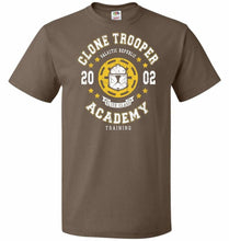 Load image into Gallery viewer, Clone Trooper Academy 02 Unisex T-Shirt - Chocolate / S - T-Shirt