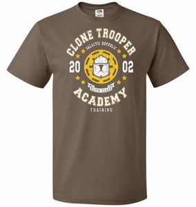 Clone Trooper Academy 02 Unisex T-Shirt - Chocolate / S - T-Shirt